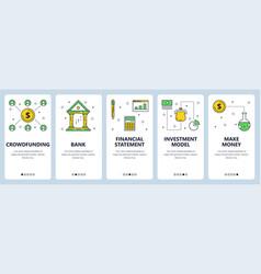 Modern thin line crowdfunding vertical web vector