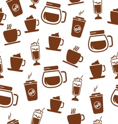 Seamless coffee pattern vector image vector image