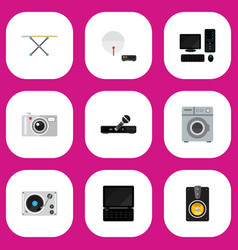set of 9 editable technology icons includes vector image