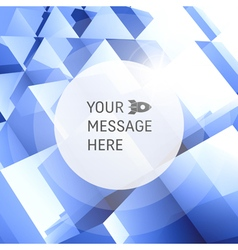 3D business Abstract background vector image vector image