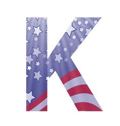 american letter K vector image vector image
