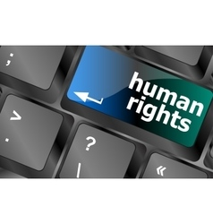 arrow button with human rights word vector image