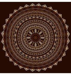 Round ethnic ornament in cappuccino tones vector image vector image