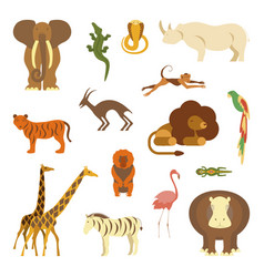set of african animals vector image