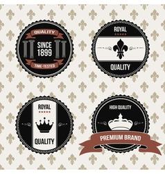 vintage royal labels vector image