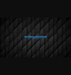 3d parallelogram structure conceptual sci-fi vector image