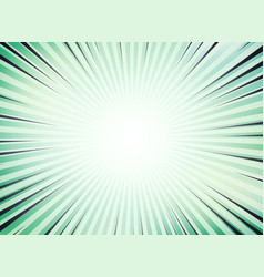 Abstract green sun burst comic background vector