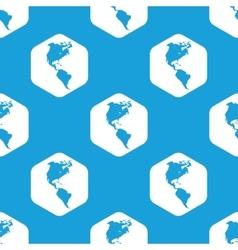 America hexagon pattern vector image