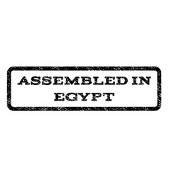 assembled in egypt watermark stamp vector image