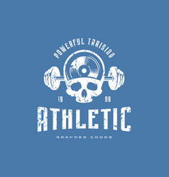 athletic emblem for t-shirt vector image