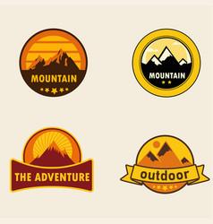 badges desert vector image