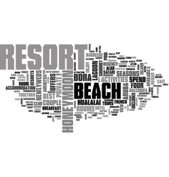 Best honeymoon resorts text word cloud concept vector