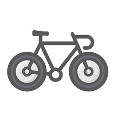 bicycle filled outline icon transport and vehicle vector image