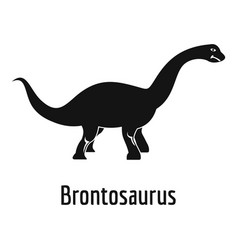 Brontosaurus icon simple style vector