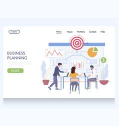 business planning website landing page vector image