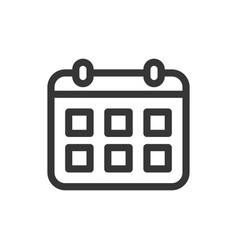 calendar schedule line style isolated icon vector image