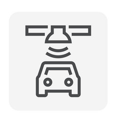 car gps icon vector image
