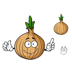Cartoon onion vegetable character vector image