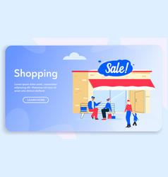 character shopping vector image