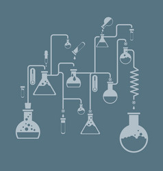 Chemistry infographics template showing various vector