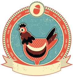 Chicken head label vector
