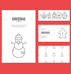 Christmas Business Set vector image