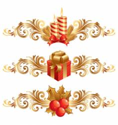 Christmas symbols and ornament vector