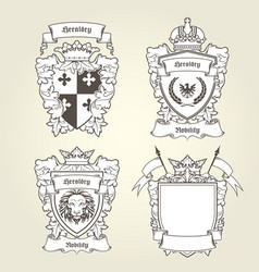 coat of arms templates - heraldic shield vector image