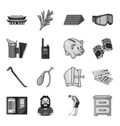 Coat smoke beekeeping and other web icon in vector