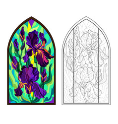 Colorful and black and white pattern gothic vector