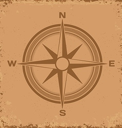 Compass Wind rose on grunge background vector image