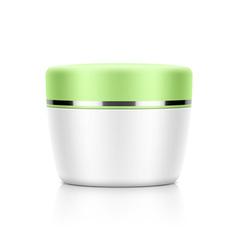 Cosmetic jar vector image