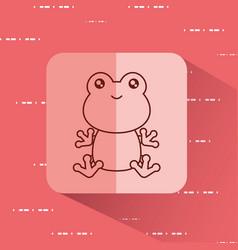 Cute frog icon vector