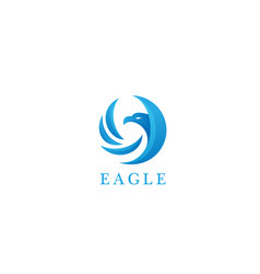 eagle bird logo concept vector image