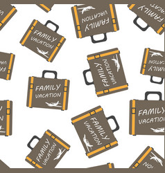 family vacation concept seamless pattern vector image