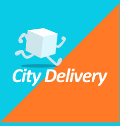 fast delivery logo template vector image