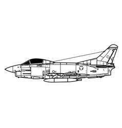 Fiat g91 pan vector