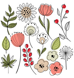flower graphic design vector image