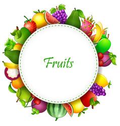 Fresh fruits cartoon vector