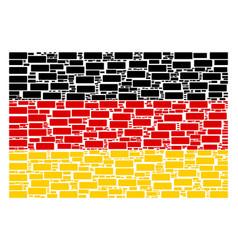 German flag pattern of building brick items vector