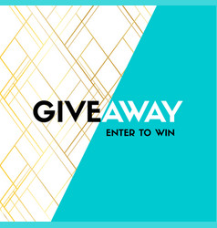 Giveaway enter to win banner template vector