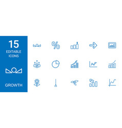 Growth icons vector