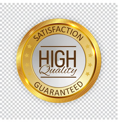 High quality golden shiny label sign vector