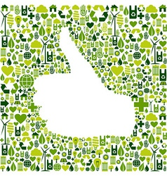 I like go green icons in hand vector image vector image
