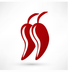 icon of red hot chili pepper vector image