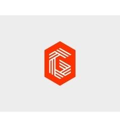 Letter G logo icon design Creative line vector image