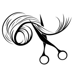 logo for hairdresser black and white logo vector image