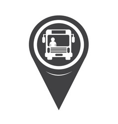 map pointer bus icon vector image