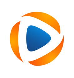 media play logo simple modern concept media logo vector image