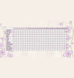 Menstrual period calendar vector